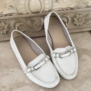 Coach loafers Mocassins White 8.5